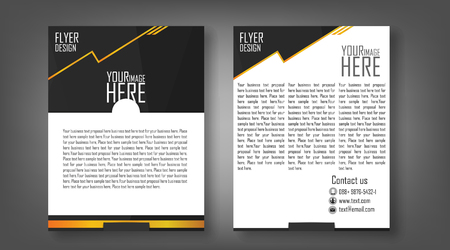 catalog: Flyer design layout template in A4 size, with black background Illustration