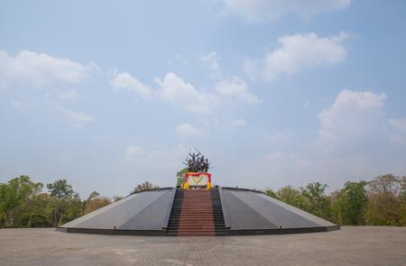 singburi: Thailand,Singburi - Mar 15, 2016: Bang Rachan Heroes Monument in Singburi, Thailand