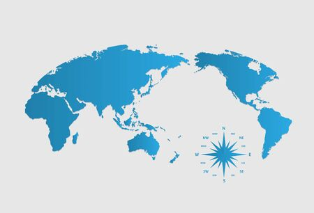 european community: World map of vector, vector illustration