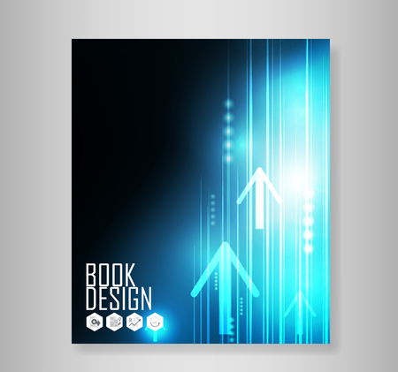 technology to communicate: Abstract Blue Arrows technology communicate background, vector illustration