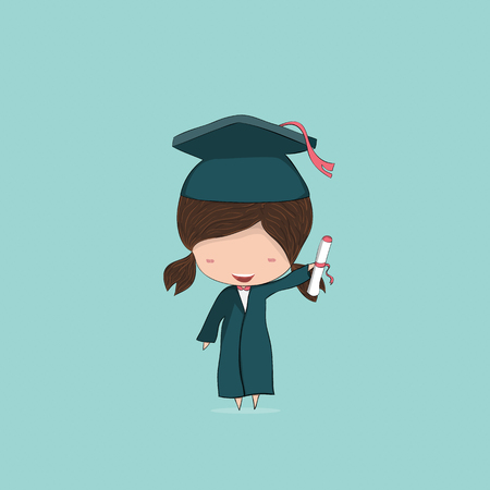 pupil's: Girl graduated pupils, drawing by hand vector