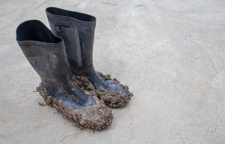 muddy: Muddy rubber boots