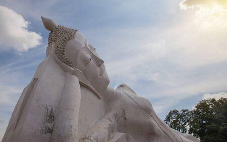 phra nakhon si ayutthaya: Reclining Buddha (Luang Pho) Temple Satue Tha Rua, Phra Nakhon Si Ayutthaya, Thailand