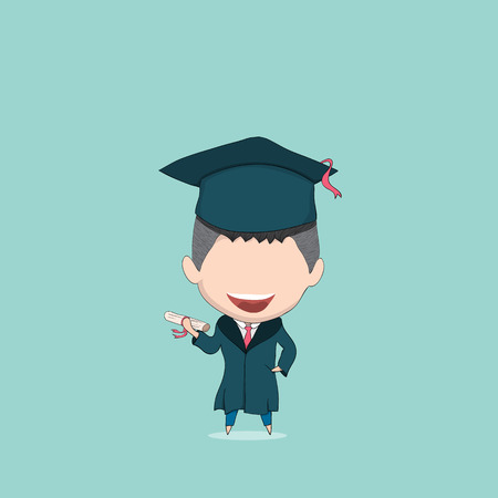 pupil's: Boy graduated pupils, drawing by hand vector