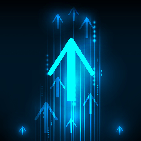 arrows background: Abstract Blue Arrows technology communicate background, vector illustration