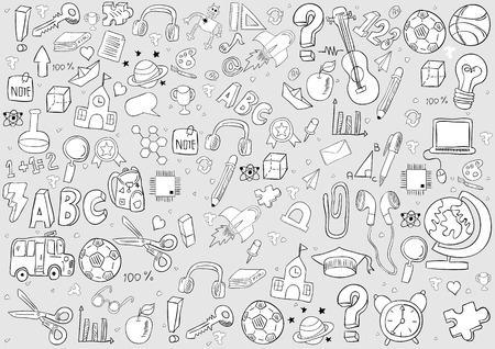 fond d'école et d'éducation, dessin à la main vector
