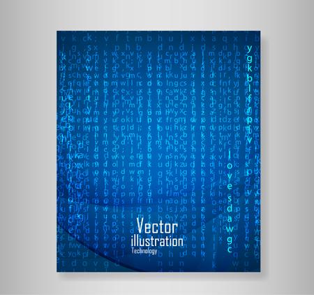 Book english code, vector Illustration