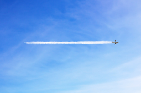 The aircraft in the sky Stock Photo