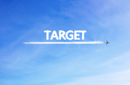 vapour: Target Cloud is in the air. sky background Stock Photo