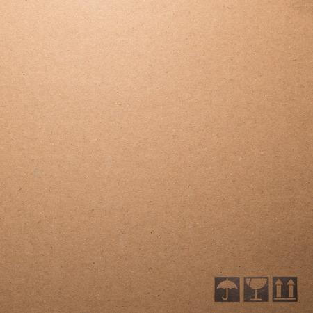 Symbol box Paper texture brown sheet background.
