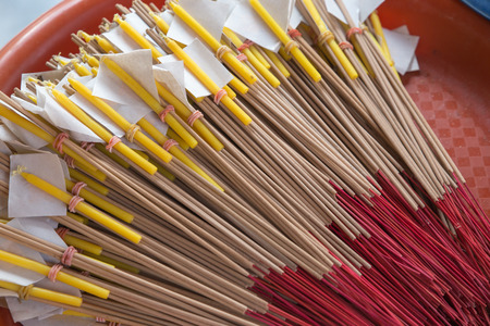 fire flower: Incense, candles for the altar. Stock Photo