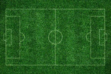 greensward: green grass texture background of soccer field top view