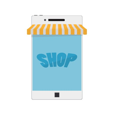 Mobile Phone. Internet online shopping and e-commerce concept. Vector illustration