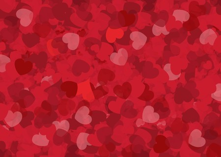 Happy Valentines day card hearts vector background Illustration
