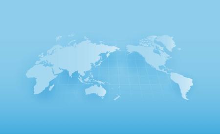 World map global warming, vector illustration. Illustration