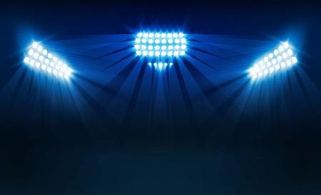 Bright stadium lights vector design Vector illumination