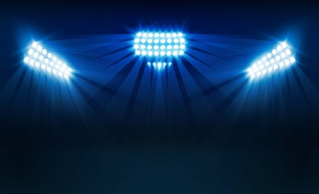 Bright stadium lights vector design Vector illumination