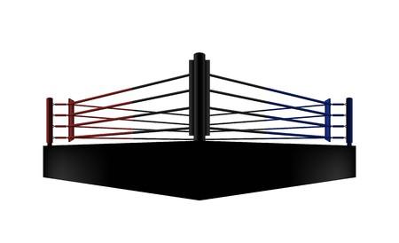 diseño de vector de arena de ring de boxeo. Iluminación vectorial