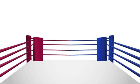 Boxing ring arena and spotlight floodlights vector design white background.