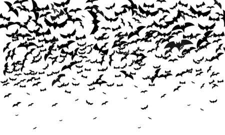Halloween background with bat  banner poster vector design. 向量圖像