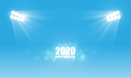 Abstract Light out 2020 christmas and Happy new year. Stock Illustratie