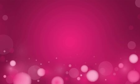 Abstract bokeh Light gold color with soft light Pink background for wedding vector magic holiday poster design.