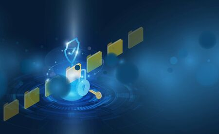 Abstract Light out technology background Hitech communication concept innovation background  and Protection system Progress upload and download Financial information in cloud and folder for hacker.