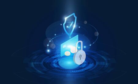 Abstract Light out technology background Hitech communication concept innovation background  and Protection system Progress upload and download data information in cloud for hacker vector design