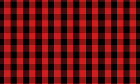 Red and Black Lumberjack Buffalo Plaid Seamless Pattern vector design Illustration