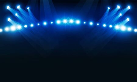 Stage podium with lighting, Stage Podium Scene with for Award Ceremony on Light blue Background vector design.