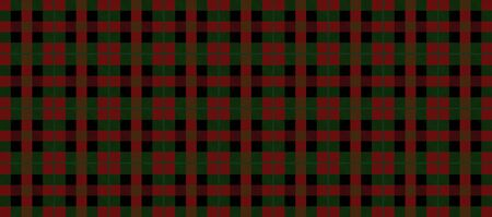 Red Green and Black Christmas Decoration Tartan Plaid Patternvector design
