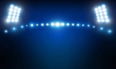 Diseño de vector de luces de estadio brillante arena