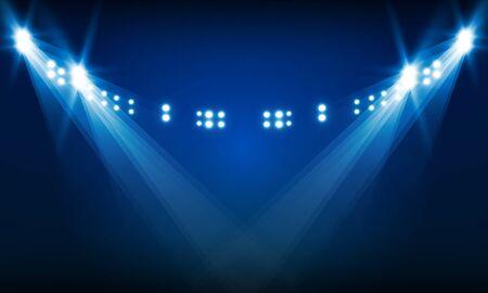Bright stadium arena lights vector design Illustration