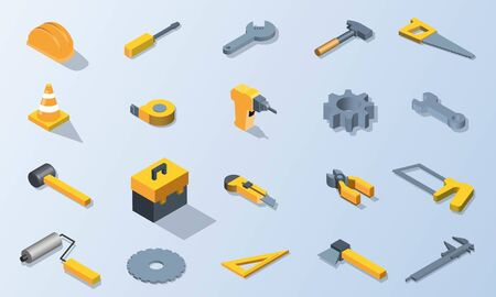 Mechanic tool isometric vector design