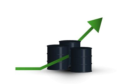 World oil prices go up isolated vector