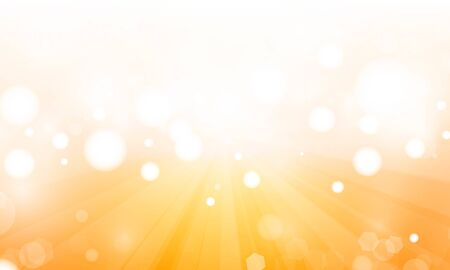 Summer Orange sky abstract blurred background with blur bokeh light effect for wedding vector magic holiday poster design.