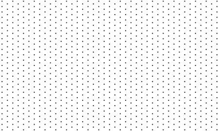 Seamless background pattern from geometric shapes. The pattern is evenly filled with black circles. white background vector design