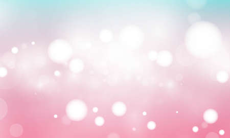Blue and pink abstract blurred background with blur bokeh light effect for wedding vector magic holiday poster design.