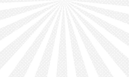 White and black ray burst dot style background vector design