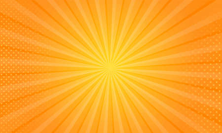 Orange gradient ray burst dot style background vector design