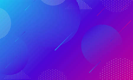 Abstract Colorful geometric purple mixed blue background  Fluid shapes composition and trendy gradient shapes composition vector design Ilustração