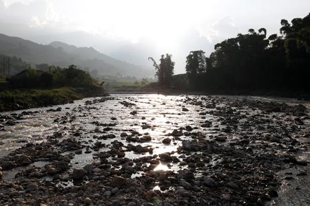 marginalized: Landscape of Sapa, Vietnam Stock Photo