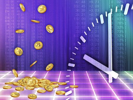 background with the image of accumulating money for a certain time