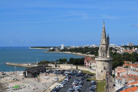 saint nicolas: Old harbor of La Rochelle, the French city and seaport Located on the Bay of Biscay, a share of the Atlantic Ocean