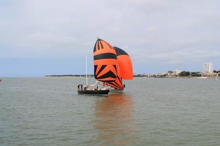 saint nicolas: Sail boat in La Rochelle, France