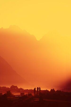 tyrol: Alpine Sunrise, Austria - Tyrol Stock Photo