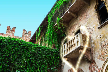 romeo and juliet: A view of the balcony of romeo and juliet in verona - italy