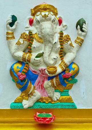 hindu god shiva: Ganesh at Samarn temple in Chachoengsao, Thailand