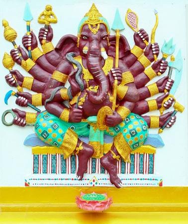 chachoengsao: Ganesh at Samarn temple in Chachoengsao, Thailand