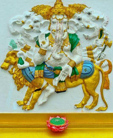 siddhivinayaka: Ganesh at Samarn temple in Chachoengsao, Thailand